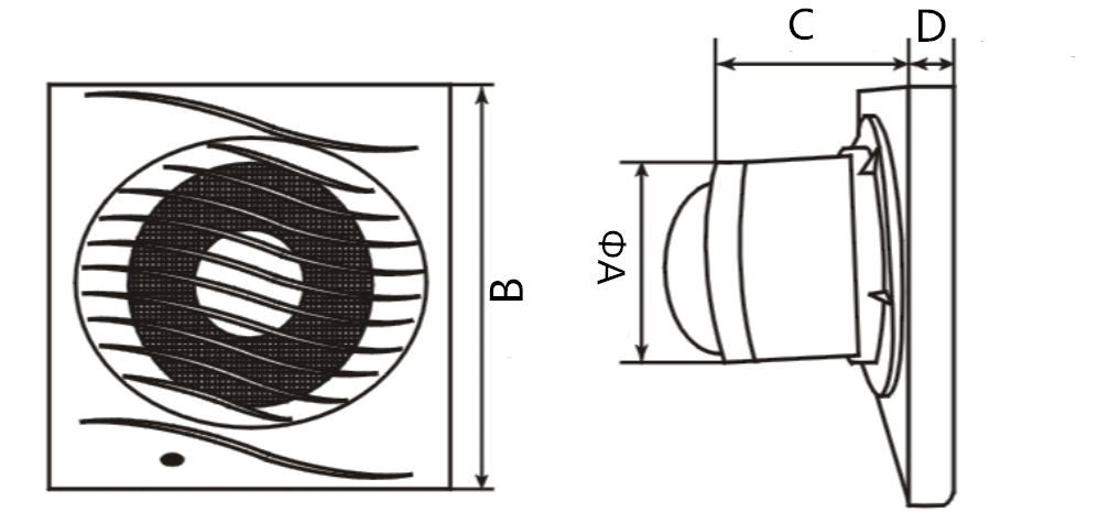 bath fan exhaust vent wall mounting bathroom exhaust fan