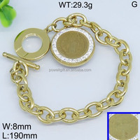 Noble set rhinestone roundness gold soccer team bracelet