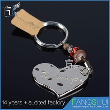 Customized lovers keychain metal