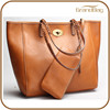 China Wholesale 2015 Women Genuine Leather Tote Bag Cow Leather Lady Hand Bag