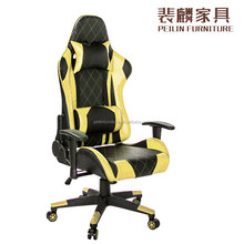 new bride racing adjustable orange racing seat, gaming chair cushion with yellow racing seats for sale