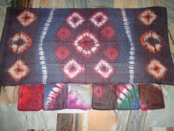 hand tie dye printed scarves pareo sarongs flower prints