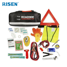 Auto Roadside Car Emergency Tools KitVehicle Emergency Car kit With Jumper Cable And Warning Triangle