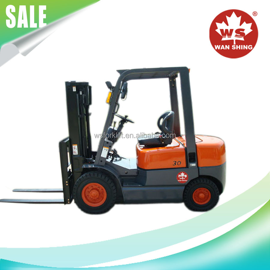 good quality 3 ton diesel forklift with imported japanese engine