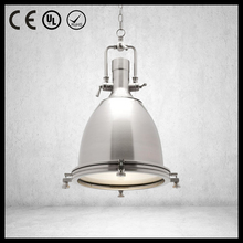 Hot sale e27 base 40w 1 light black silver UL iron pendant light