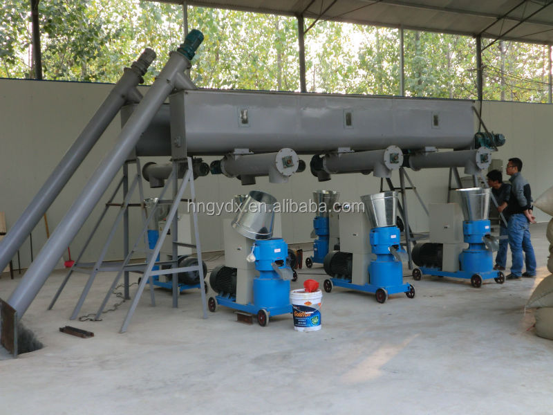 Low consumption high capacity biomass flat die wood pellet