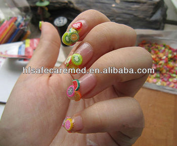 Nail art stickers canes stickers rod fimo decorate fruit for 3d nail art fimo canes rods decoration