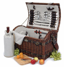 cheap wholesale wicker picnic basket with handles