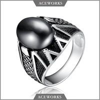 RN6601 Acewroks 2017 new 925 sterling silver men's unique silver ring