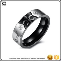 316l Stainless steel couple ring two stone ring designs love ring