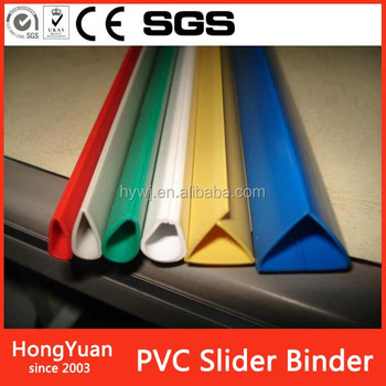 office and school supplies custom print personalized pvc plastic binding slide binder