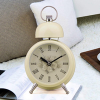 OXGIFT Made in China Alibaba wholesale Manufacture 4.6 inch Mute Retro Desk Luminous Single Bell metal alarm clock