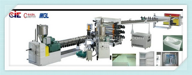 Professional low energy consumption hips mono layer sheet extrusion