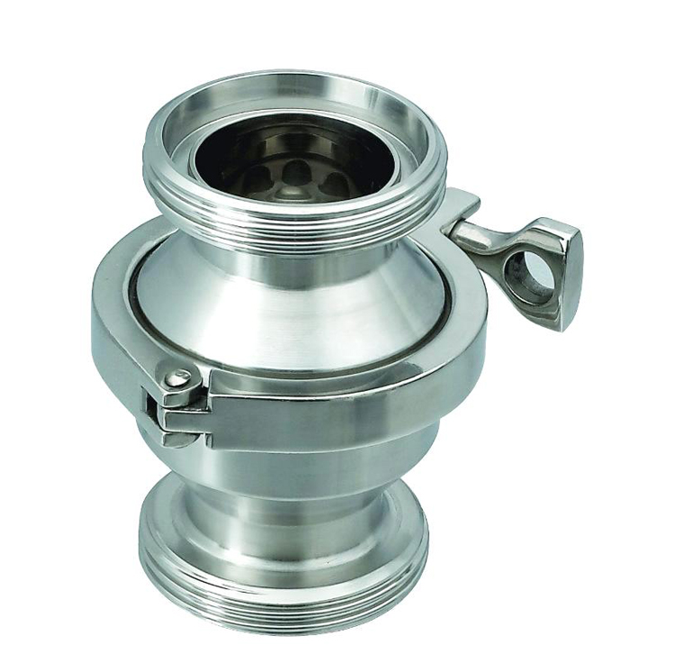 POV low price manual dn200 sanitary clamped ball check valve