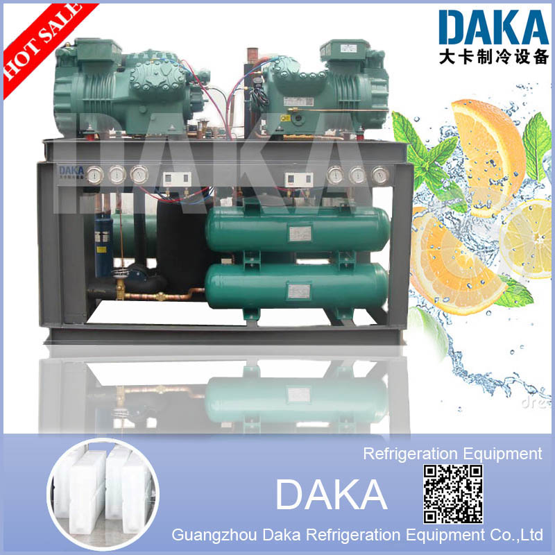 Cascade Refrigerating Unit with Bitzer compressor for Low-temperature laboratory, environmental test room, tuna, salmon storage