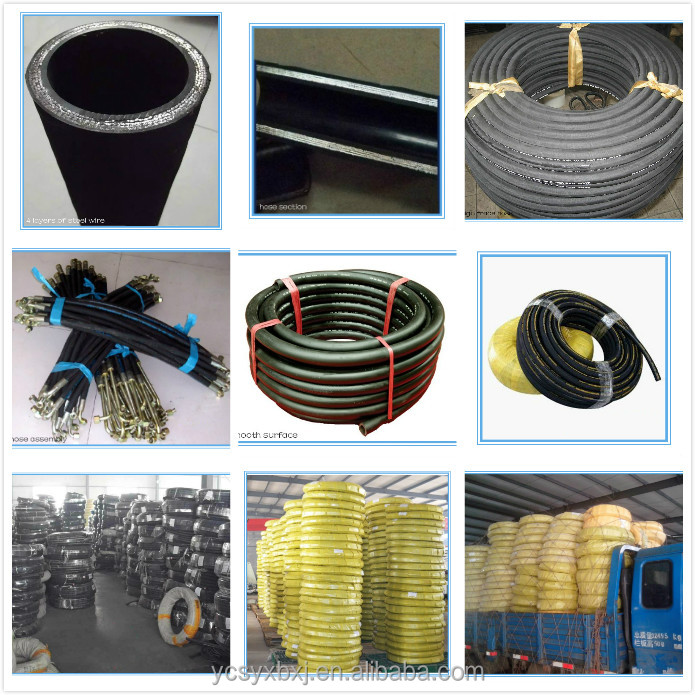 SAE 100R2 steel wire braided reinforced hydraulic rubber hose