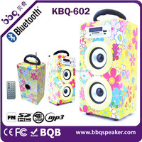 Popular Gift Speaker Wooden Dual Horn Speaker 12 inches BT Speaker In HK Exhibition Compatible with 3.0 Bluetooth Version