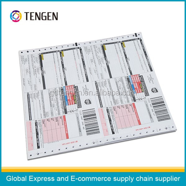 Customized waybill for Big Customers DHL UPS TNT Russian EMS