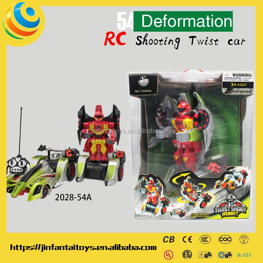 RC Twist Shoot multifunctional transform robot toy RC car Deformation electric toy play battery car