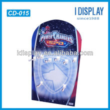 PDQ counter paper display for hanging mobile phone accessory
