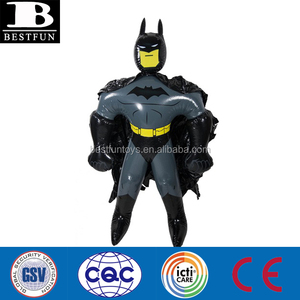 soft vinyl inflatable batman for advertising custom hot movie cartoon sasquatch inflatable characters