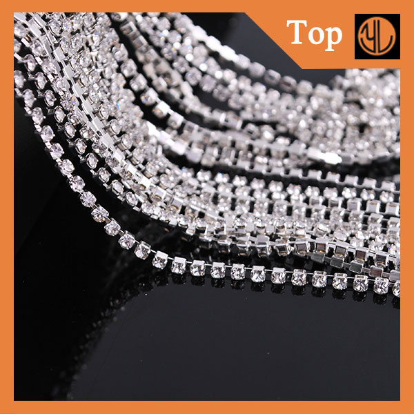 Fashion diamond rhinestone cup chain making machine from china supplier sew on stone for dresses