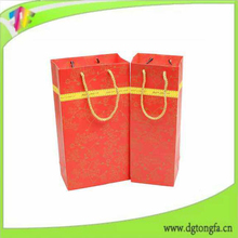 Customized Single Wine Bottle Non Woven Packaging Bag Pattern
