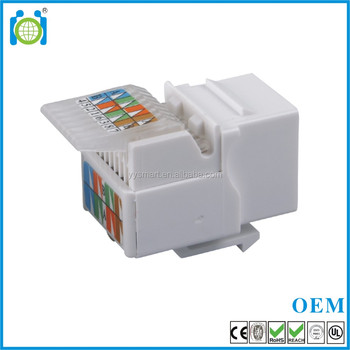 Toolless Cat6 RJ45 module jack cat6 UTP keystone jack