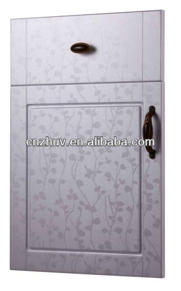 PVC coated MDF kitchen cabinet door panels