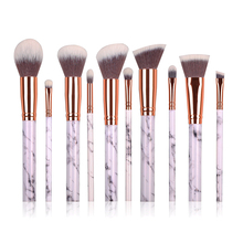 2017 trending products cheap professional 10pcs marble makeup brush wholesale