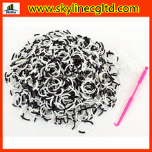 600pcs loom rubber bands + 24pcs clips + 1 hook for Kids DIY bracelets