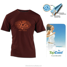 Professional OEM Permanent Wicking Performance Nano Casual T shirt