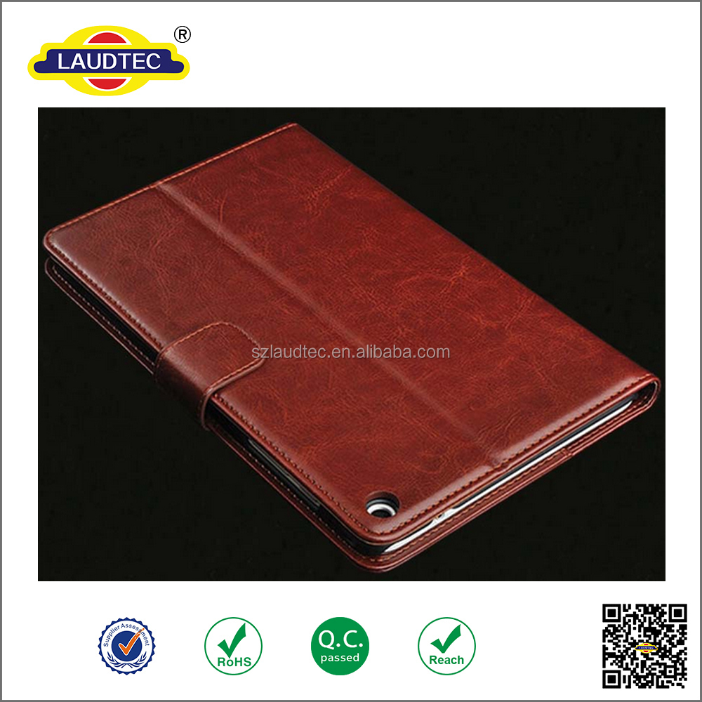 Prime PU leather Wallet tablet case for iPad mini 4 with stand function
