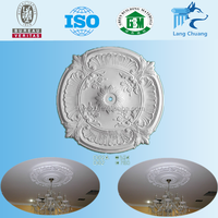 2016 New Products Waterproof Round Gypsum Ceiling Rose