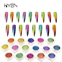 17 Colors Rainbow Effect Mirror Chrome Pigment Optics Chameleon Nail Art Glitter Powder Mirror Chrome Nail Powder