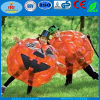 Halloween Pumpkin Inflatable Belly Bumper Ball