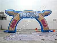 Unique design outdoor advertising inflatable arch, inflatable arch for car advertising