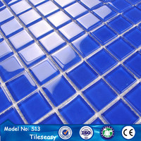 Australian 12x12 blue color glass mosaic swimming pool tiles
