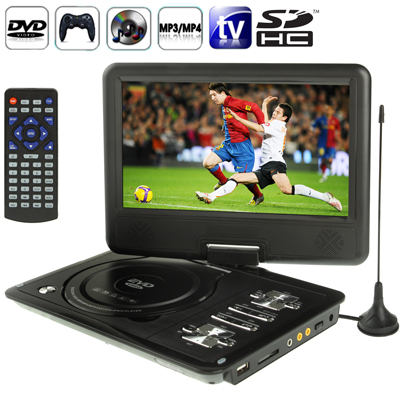 Oversea lower price DVD Player home LCD Digital Portable DVD indoor with Card Reader & Digital DVD Player, Support TV