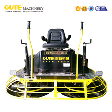 Road concrete construction machine ride on power trowel