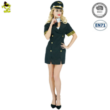 Halloween Carnival Party Adult sexy air hostess fancy dress costume