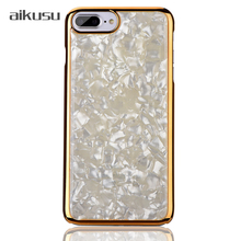 Marble electroplated cell mobile phone case cover for iphone x / 5c / 6s / /6 / 7 / 8 / 10 / plus