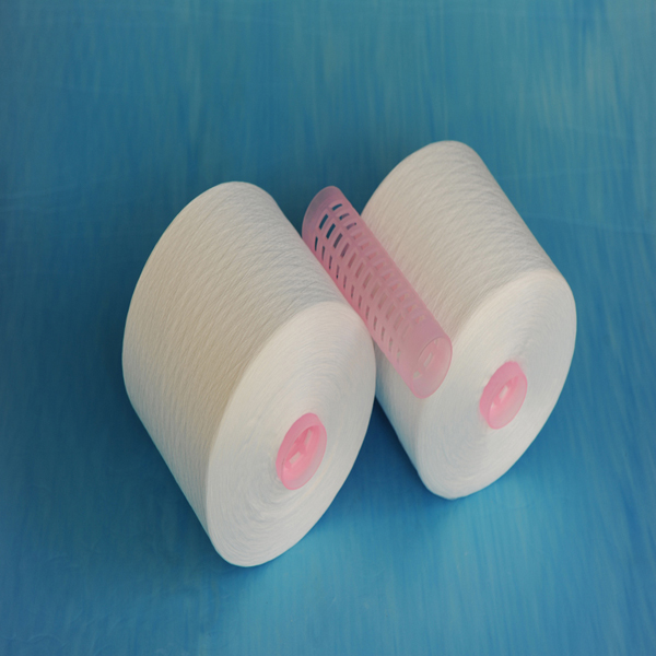 100% spun polyester sewing thread raw material