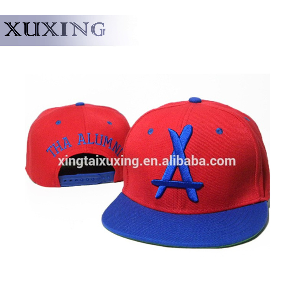 Fashion Acrylic Customized Red Snapback Hat Paypal