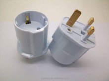 Hot sell Germany Euro to UK ABS brass pin Schuko to uk electrical plug 2 pin 3 pin adapter