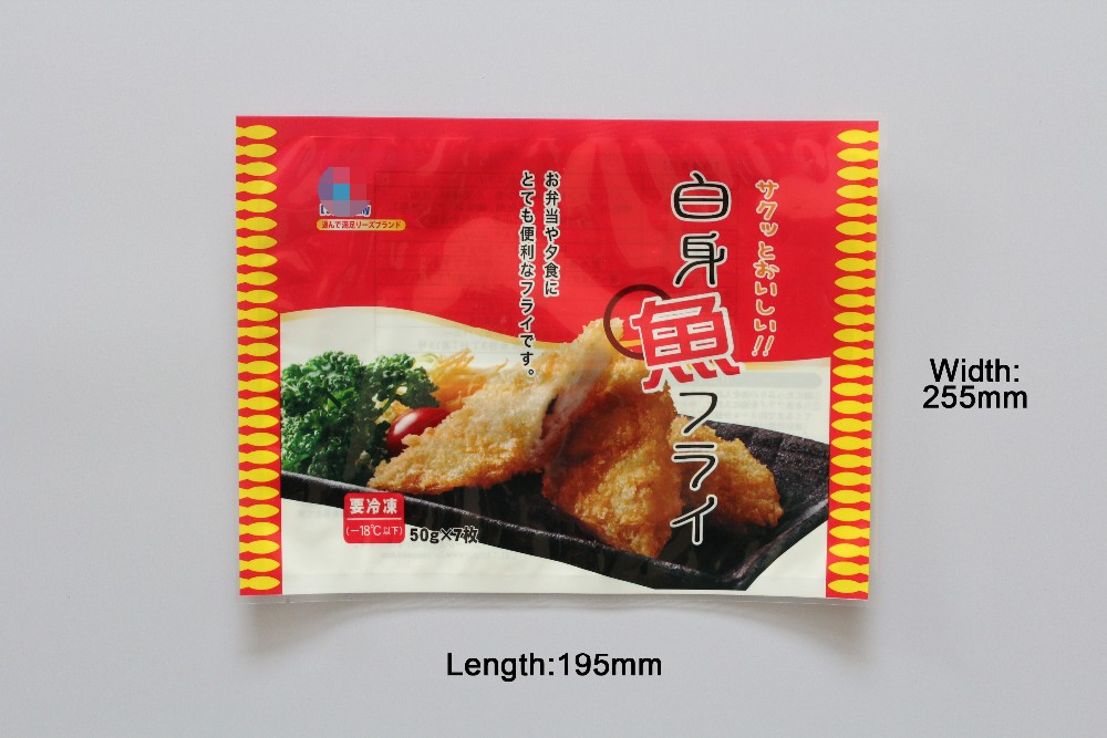 Three Sides Sealing Pouch Food Grade Plastic Bags For Frozen Food