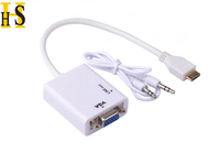 mini hdmi to vga converter adapter with 3.5mm audio cable for PS3, Xbox360 mini hdmi male to vga female
