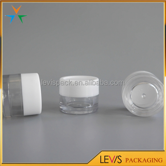 Cosmetic package supplier AS plastic 5ml small liquid sample jars