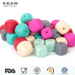 Factory Wholesale Silicone Teething Beads For Nekclace Baby Beads Necklace