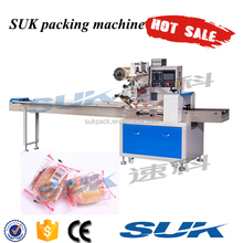 Bakery Factory Small Plastic Bag Pillow Wrapping Equipment Horizontal Packaging Machinery For Bread Cake Flow Packing Machine